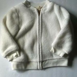 Carter's Faux Fur Fuzzy Jacket 12 Months Infant Zi